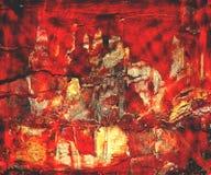 背景红色色的grunge 免版税库存照片