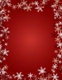 背景红色雪花 库存照片
