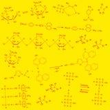 背景红色黄色化学制品 库存例证