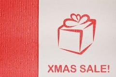 背景纸板圣诞节销售额系列 免版税图库摄影