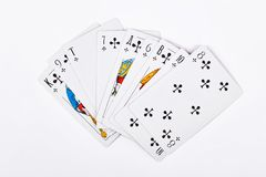 背景纸牌游戏白色 图库摄影