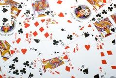 背景纸牌游戏 库存照片