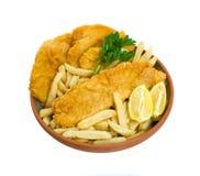 背景结块筹码钓鱼在土豆白色 免版税库存图片