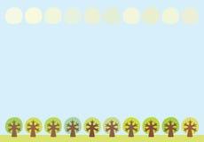 背景结构树 库存例证