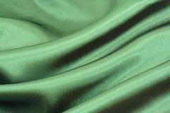 背景绿色丝绸 免版税库存图片