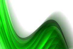 背景绿色发光波浪 免版税库存照片