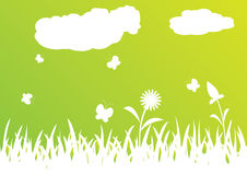 背景绿色夏天 向量例证