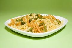 背景绿色意大利面食 免版税图库摄影