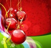 背景绿色新的红色s年 免版税库存图片