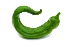 背景绿色查出的胡椒锋利的白色 免版税库存图片