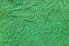 背景绿色毛巾 免版税库存照片