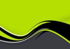背景绿色波浪 免版税库存照片