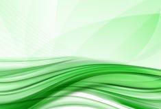 背景绿色波浪 库存图片