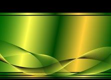 背景绿色波浪 皇族释放例证
