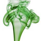 背景绿色烟白色 免版税库存照片