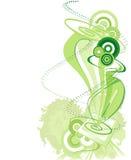 背景绿色笔片剂 免版税图库摄影
