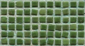 背景绿色马赛克墙壁 免版税库存照片