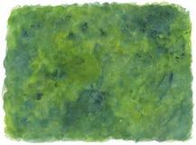 背景绿色水彩 库存图片