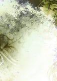背景绿色grunge橄榄 免版税库存图片