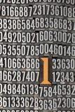 背景编号数字一个 免版税图库摄影