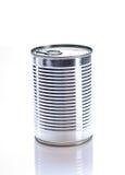 背景罐装罐子白色 库存照片