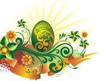 背景美丽的复活节彩蛋 免版税库存图片