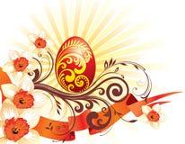 背景美丽的复活节彩蛋 图库摄影