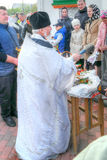 背景美丽的复活节彩蛋节假日污点 圣化 库存图片