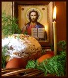 背景美丽的复活节彩蛋节假日污点 库存照片