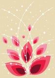 背景美丽花卉红色充满活力 免版税库存图片