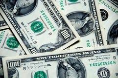 背景美元一百货币一 免版税库存照片