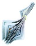 背景美元查出我们空白 免版税图库摄影