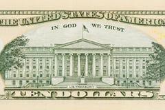 背景美元查出我们空白 免版税库存照片