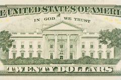 背景美元查出我们空白 免版税库存图片