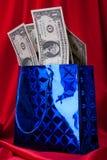 背景美元礼品红色 库存照片
