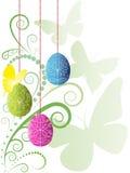 背景美好的五颜六色的复活节 库存照片