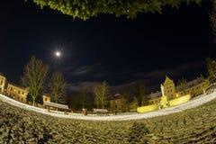 背景美好的图象安装横向晚上照片表使用 月光 库存照片