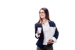 背景美好的女孩白色 免版税库存图片