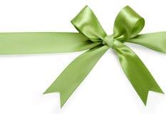 背景美好的弓绿色白色 免版税图库摄影