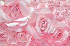 背景美好的粉红色上升了 免版税库存照片
