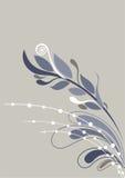 背景美好的花卉灰色虚拟白色 免版税库存照片