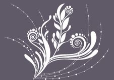 背景美好的花卉灰色软件 免版税库存图片