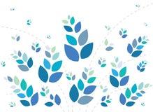 背景美好的蓝色花卉软件 库存照片