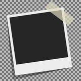 背景美好的黑色框架漏洞kpugloe仿造了照片 库存例证