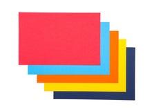 背景能使用的五颜六色的纸张 库存图片