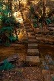 背景能使用的步骤石头 库存图片