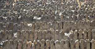 背景能使用的步骤石头 免版税库存照片