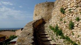 背景能堡垒照片使用的墙壁 库存图片