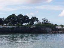 背景能堡垒照片使用的墙壁 库存照片