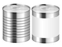 背景能查出的罐子白色 库存照片